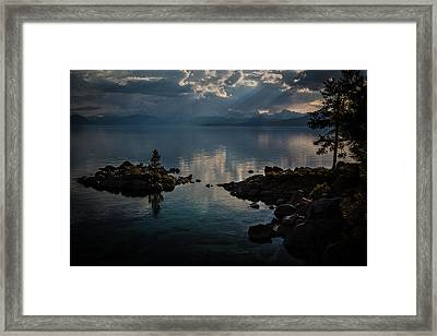 Storm Clouds Over The Island Framed Print