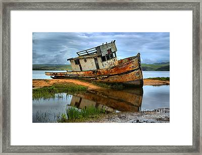 Storm Clouds Over The S S Point Reyes Framed Print