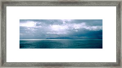 Storm Clouds Over The Sea, New Zealand Framed Print