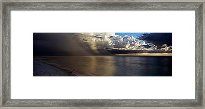 Storm Clouds Over The Sea Framed Print