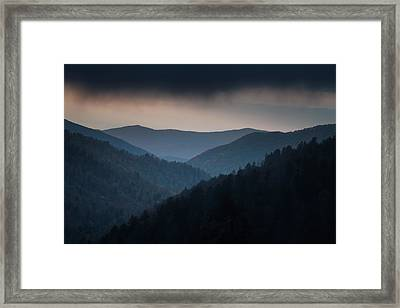 Storm Clouds Over The Smokies Framed Print by Andrew Soundarajan