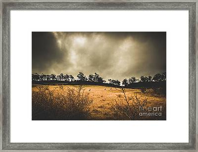 Storm Clouds Over York Plains Framed Print by Jorgo Photography - Wall Art Gallery