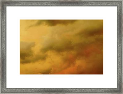 Storm Clouds Polaroid Transfer  Framed Print by Tony Grider