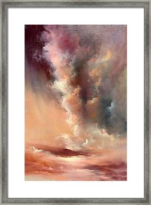 Storm Clouds Rising Framed Print by Sally Seago