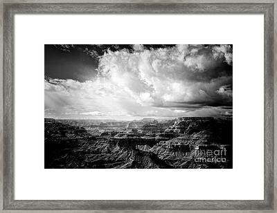 Framed Print featuring the photograph Storm Clouds by Scott Kemper