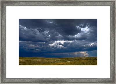 Framed Print featuring the photograph Storm Clouds To The East by Monte Stevens
