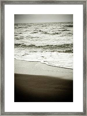 Framed Print featuring the photograph Storm Coast Black And White by Frank Tschakert