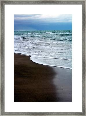 Framed Print featuring the photograph Storm Coast by Frank Tschakert