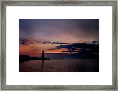 Storm Coming In Framed Print by Timothy McIntyre