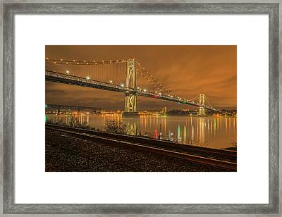 Storm Crossing Framed Print