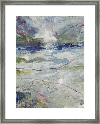 Framed Print featuring the painting Storm Currents by John Fish