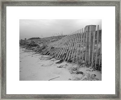 Storm Damage Framed Print by Conor Murphy