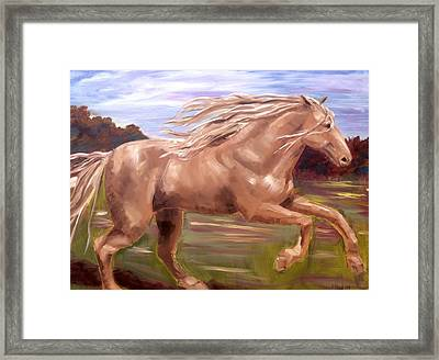 Framed Print featuring the painting Storm by Diane Daigle