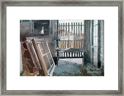 Storm Doors Framed Print by Donald Maier