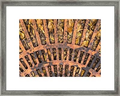 Storm Drain Framed Print by Jim Hughes
