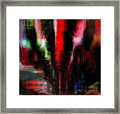 Storm Framed Print by Fania Simon