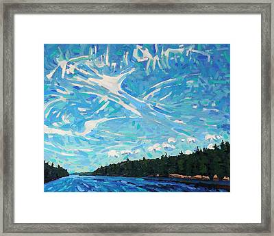 Storm Front Coming Framed Print