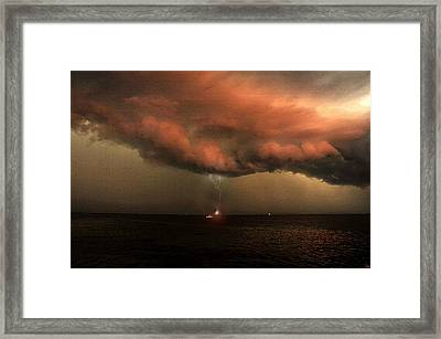 Storm Front Squall Line Framed Print