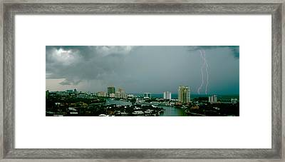 Storm Ft Lauderdale Fl Framed Print by Panoramic Images