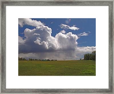 Storm Happening Framed Print by John Norman Stewart