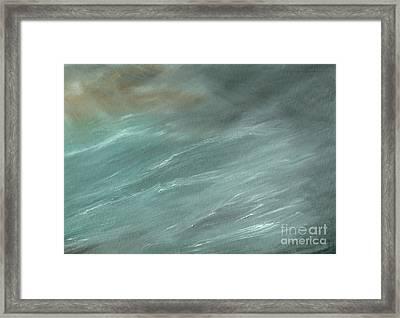 Storm In Deep Ocean Framed Print