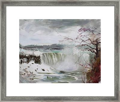 Storm In Niagara Falls  Framed Print by Ylli Haruni