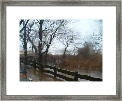 Framed Print featuring the photograph Storm In Staten Island by Desline Vitto