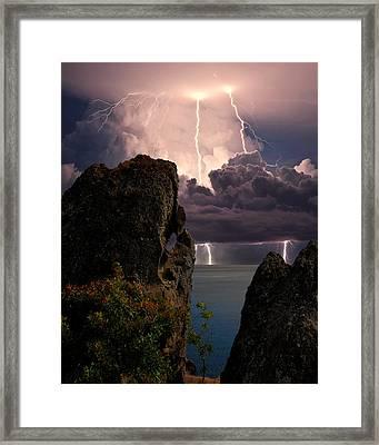 Storm In The Crimea Framed Print by Yuri Hope