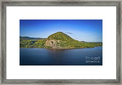 Storm King Mountain From Breakneck Ridge Framed Print