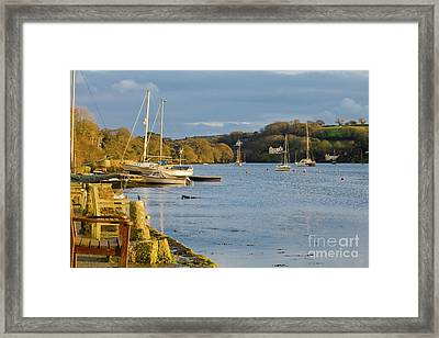 Storm Light At Mylor Bridge Framed Print by Terri Waters
