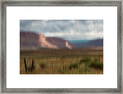 Framed Print featuring the photograph Storm Light In The Paradox Valley by Deborah Hughes