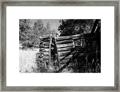 Storm Mountain Homestead Framed Print