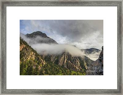 Storm Mountain Framed Print