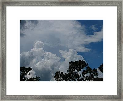 Storm Moving In Framed Print by Greg Patzer