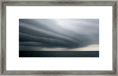 Storm Near Liberia Framed Print