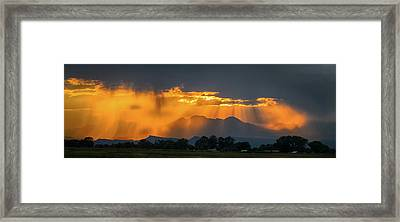 Storm Of Gold Framed Print