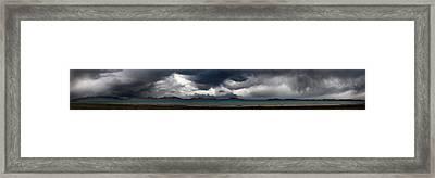 Storm On Karakul Lake. Panorama Framed Print by Konstantin Dikovsky