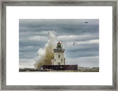 Storm On Lake Erie Framed Print