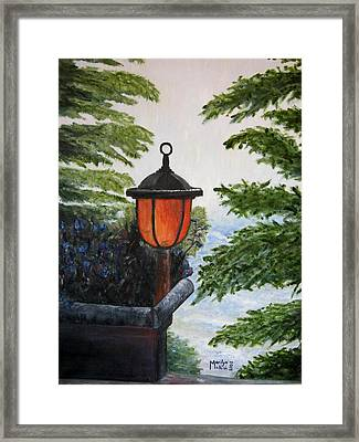 Storm On Lake Of The Woods Framed Print by Marilyn  McNish