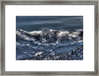Storm On The Divide Framed Print