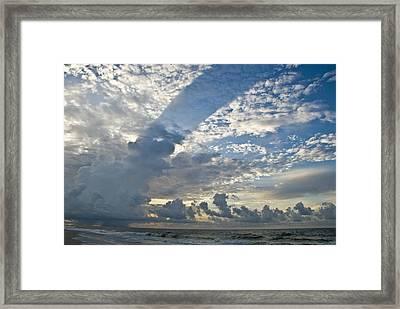 Storm On The Gulf Framed Print by Jennifer Kelly