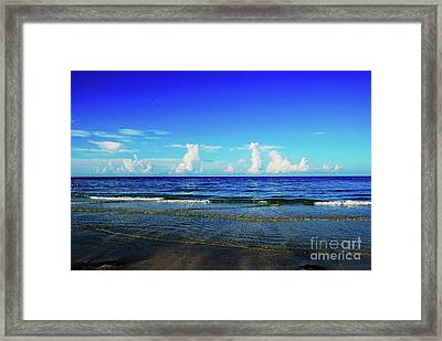 Framed Print featuring the photograph Storm On The Horizon by Gary Wonning