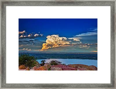 Framed Print featuring the photograph Storm On The Horizon by James Menzies