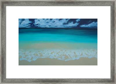 Storm On The Horizon Framed Print by Nicole Lee
