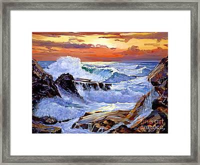 Storm On The Irish Coast Framed Print by David Lloyd Glover
