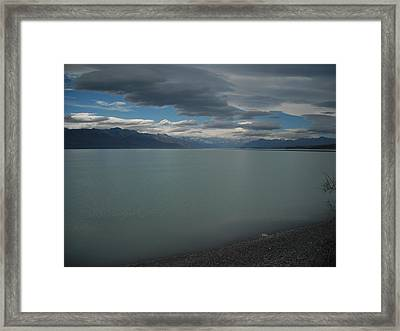 Storm On The Lake Framed Print by Petrina McLachlan