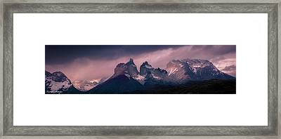 Storm On The Peaks Framed Print by Andrew Matwijec