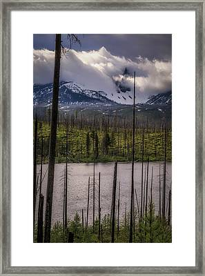 Framed Print featuring the photograph Storm On Three Fingered Jack by Cat Connor