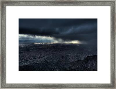 Storm Over Alburquerque Framed Print by Max Witjes