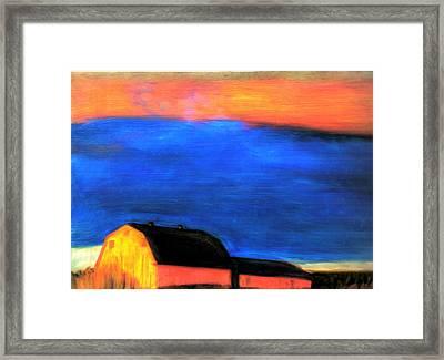 storm over Aroostook Maine Framed Print by FeatherStone Studio Julie A Miller